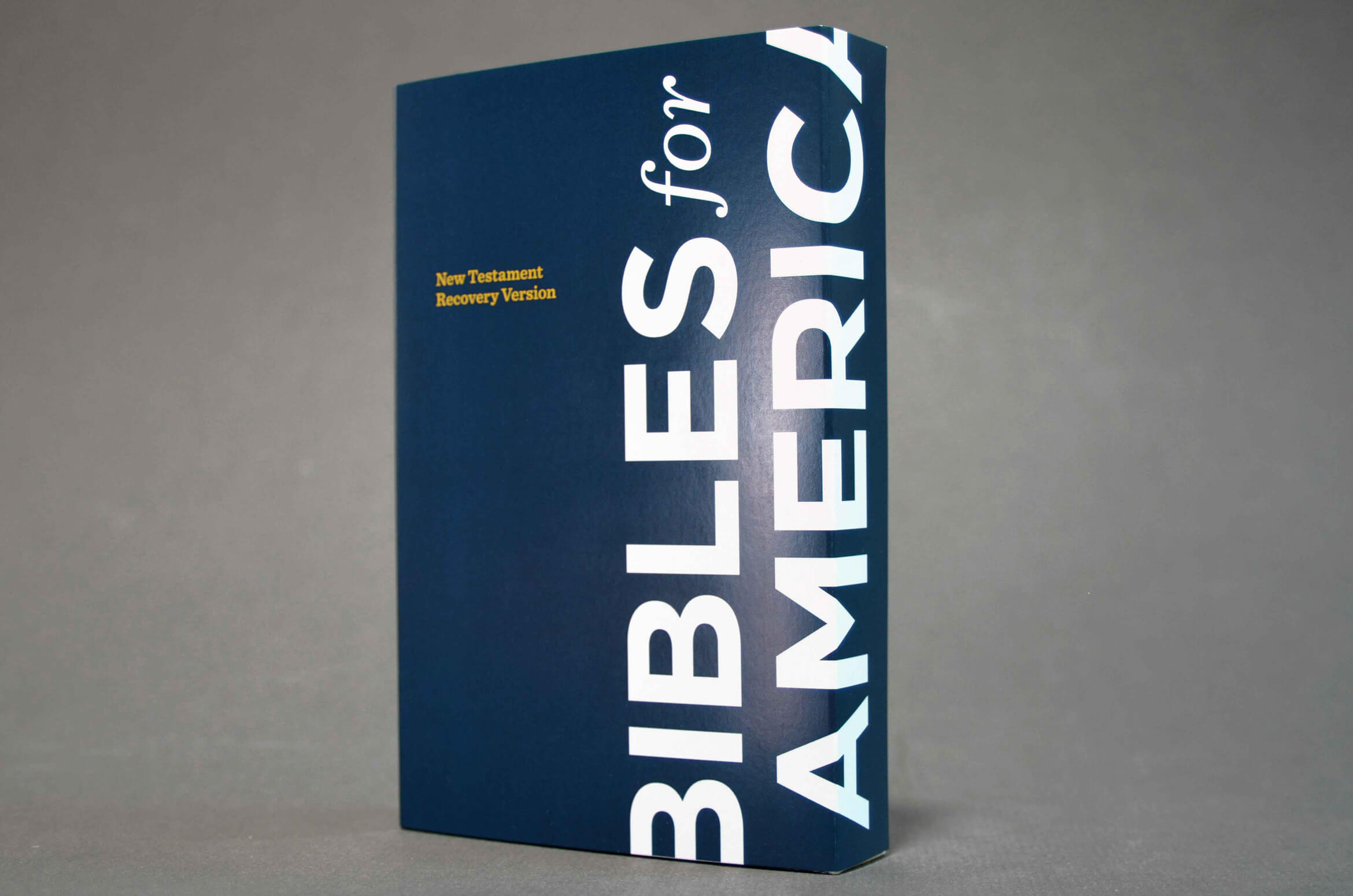Bible cover packaging for non profit.