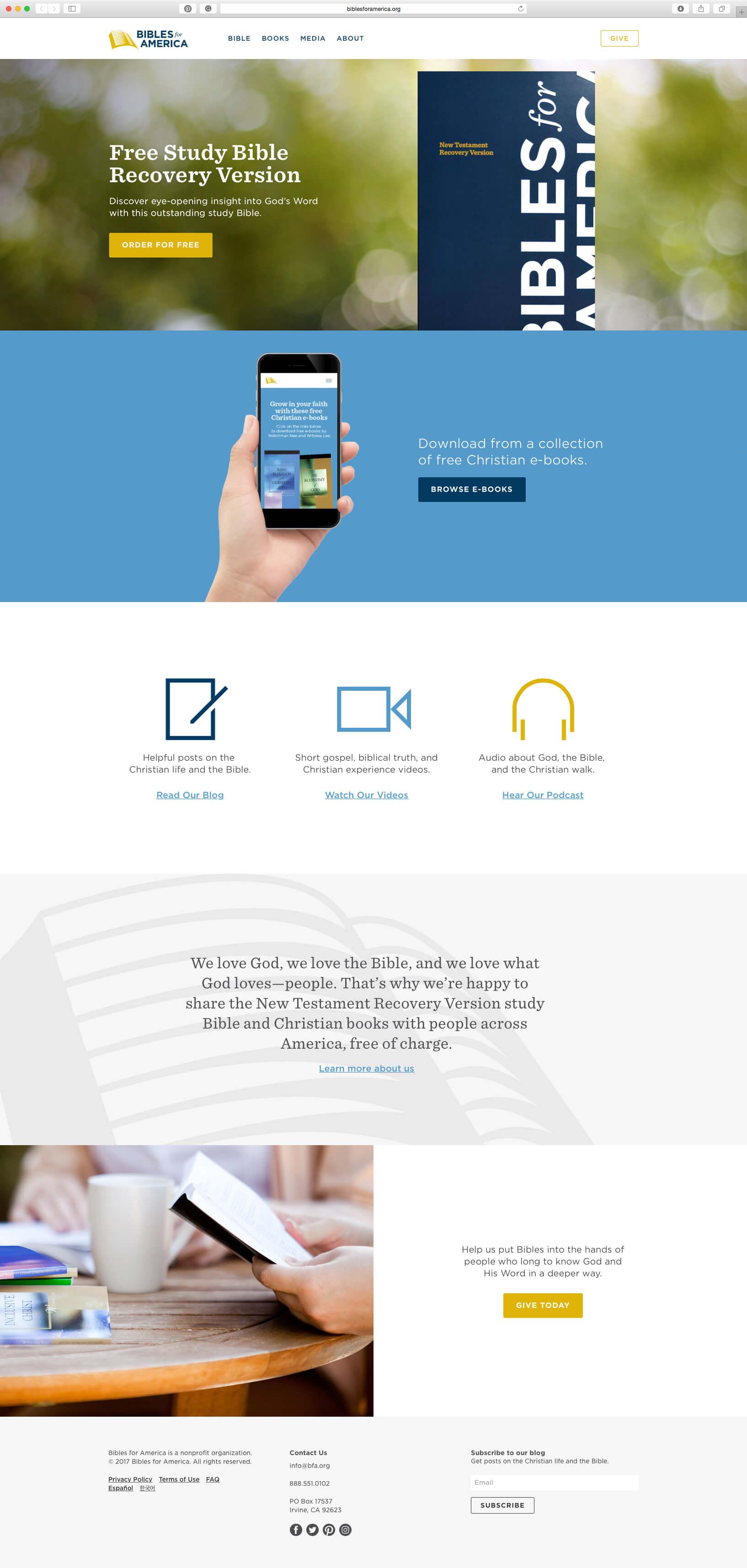 Website design for non profit.