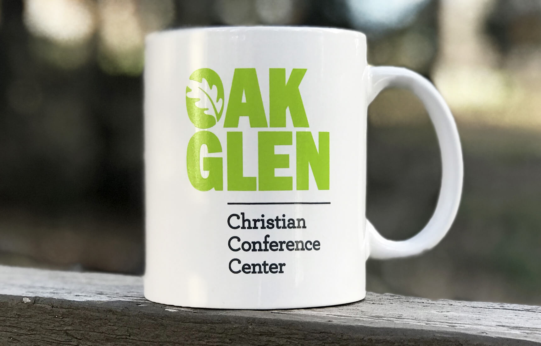 Branded coffee mug for Christian camp.