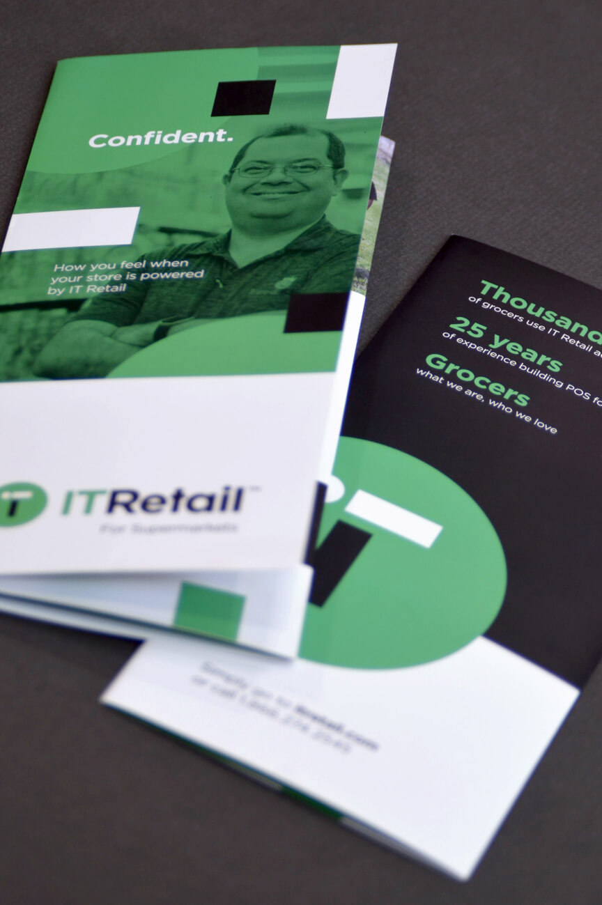 Brochure design for IT Retail.