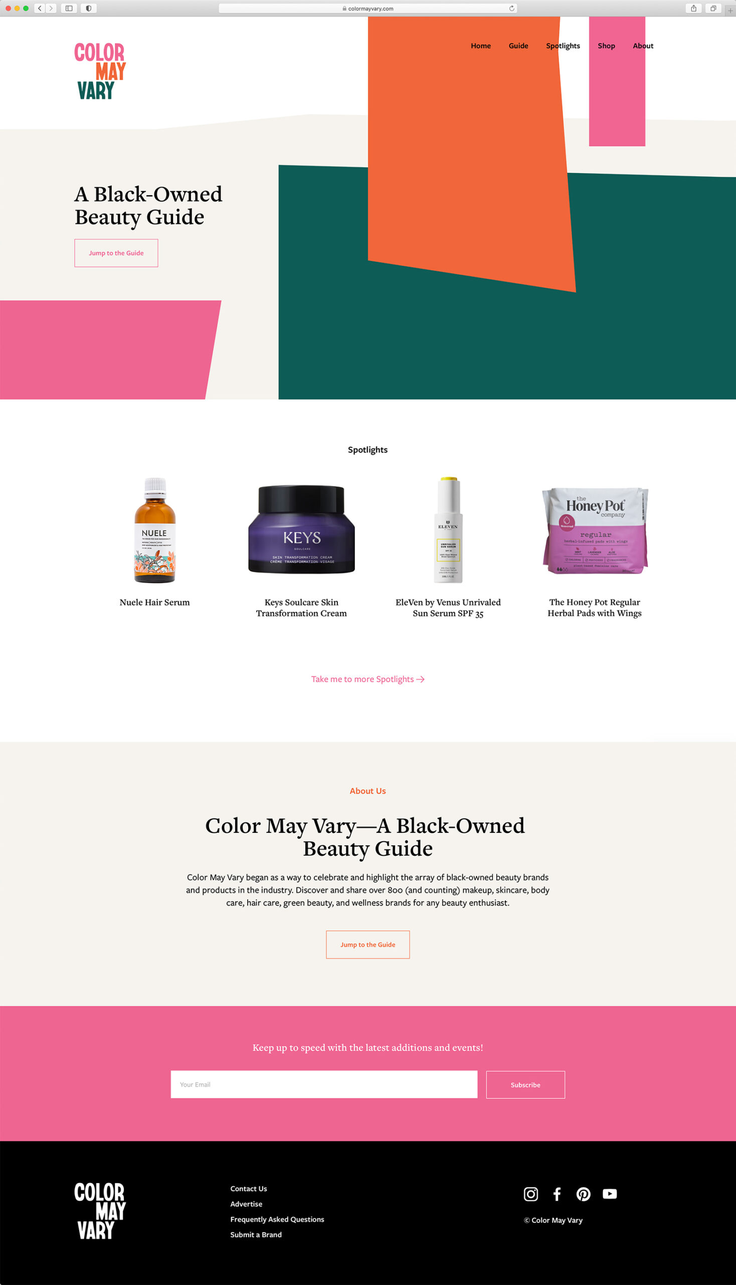Color May Vary Website