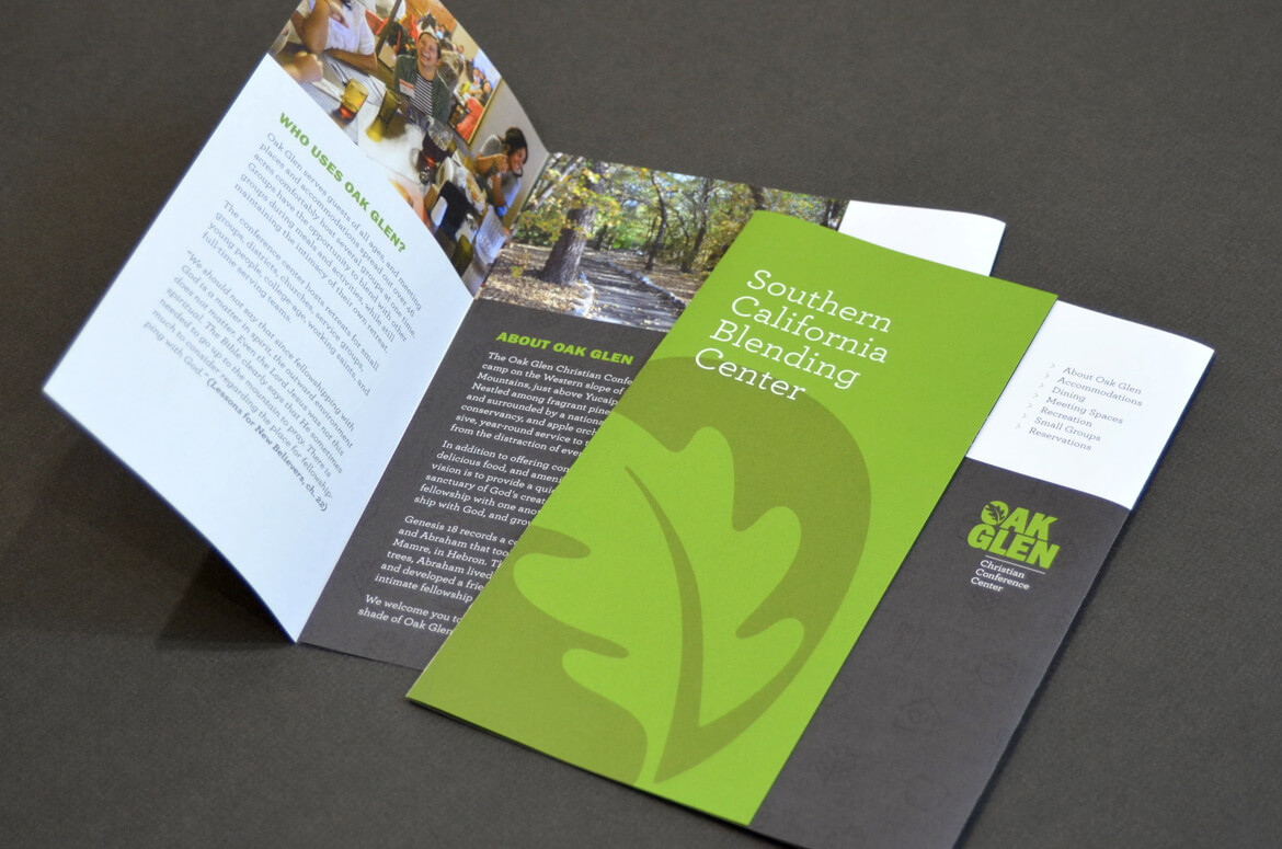 Brochure design for photos and typography for Christian camp.