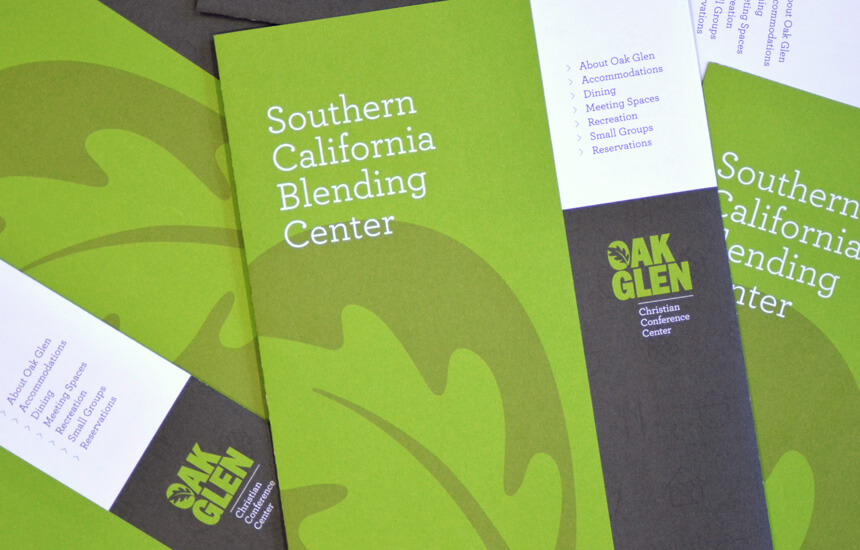 Green cover for a trifold brochure.