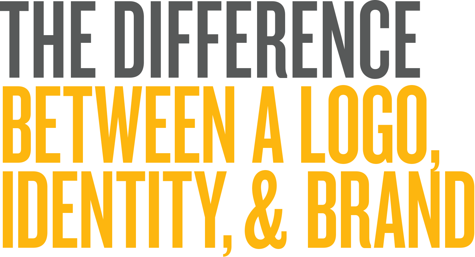 The difference between a logo, identity, and brand.