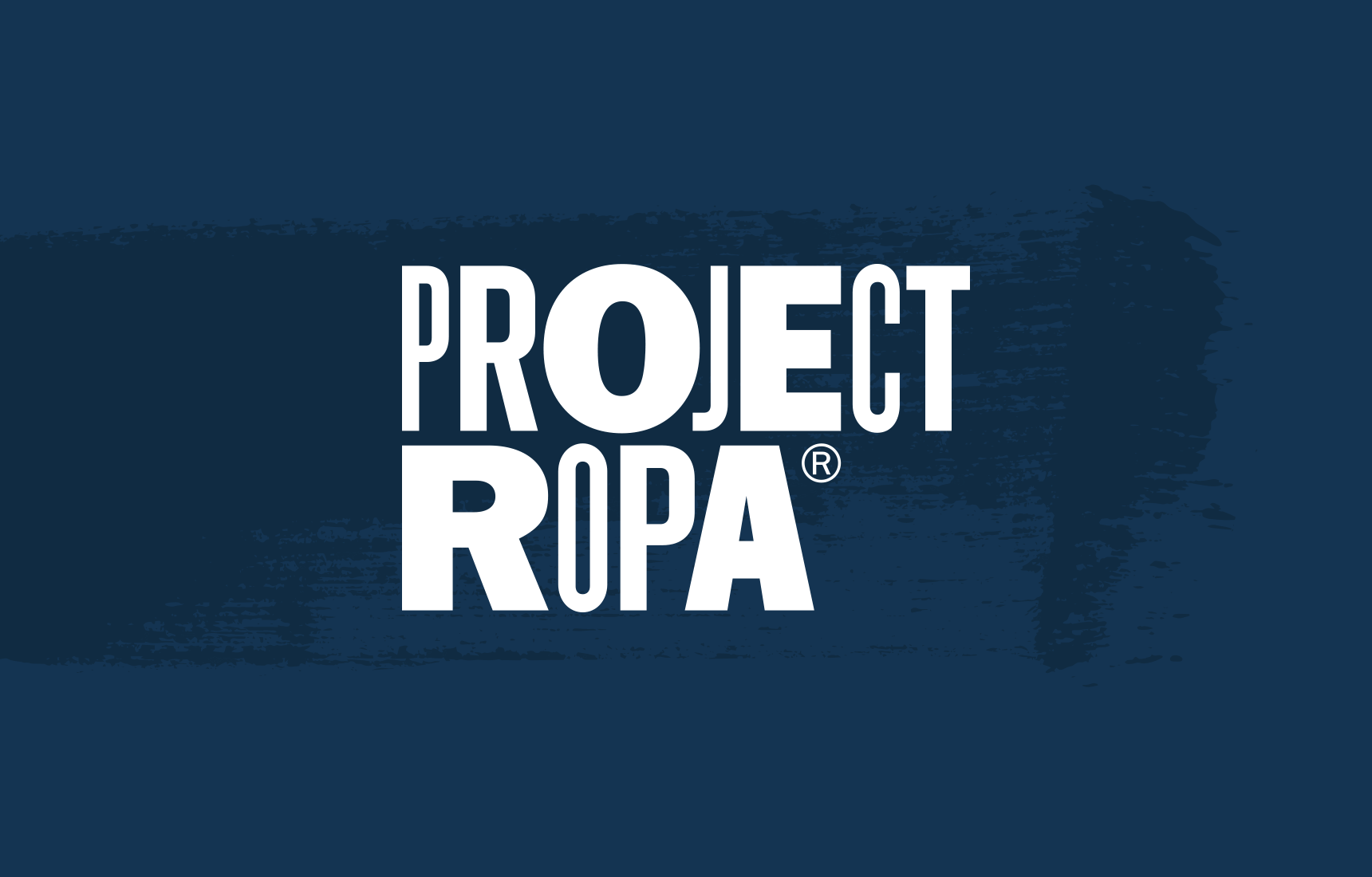 Logo for Los Angeles based outreach non-profit, Project Ropa. in reverse colors