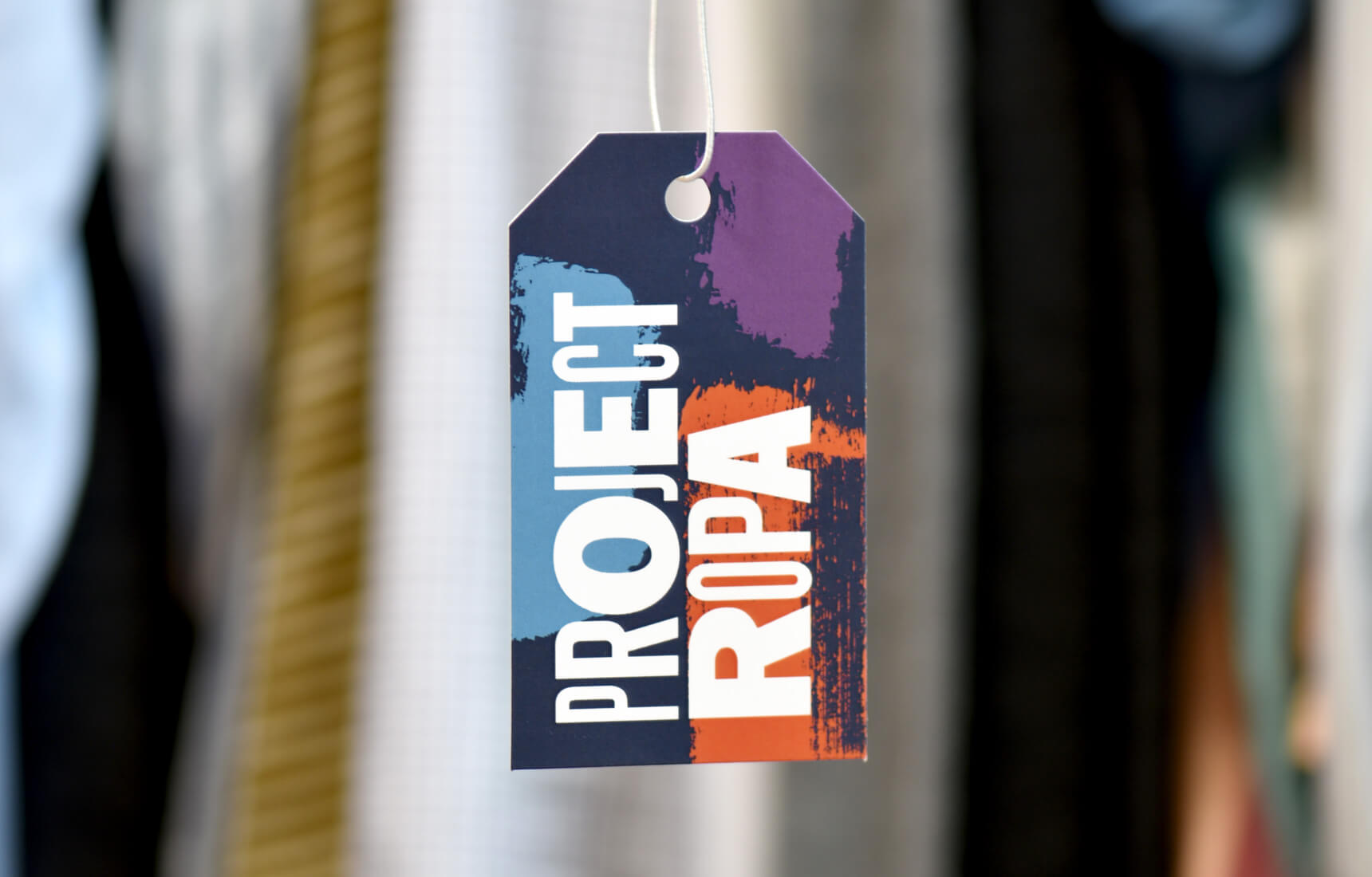 Hangtag design for nonprofit, Project Ropa.