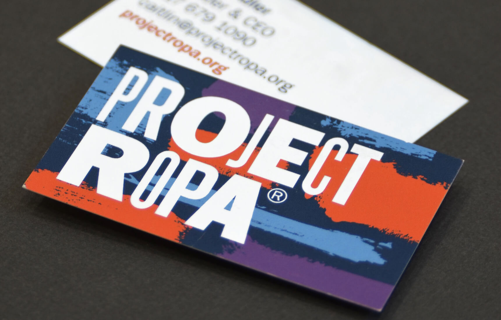 Colorful business Card design for Project Ropa.