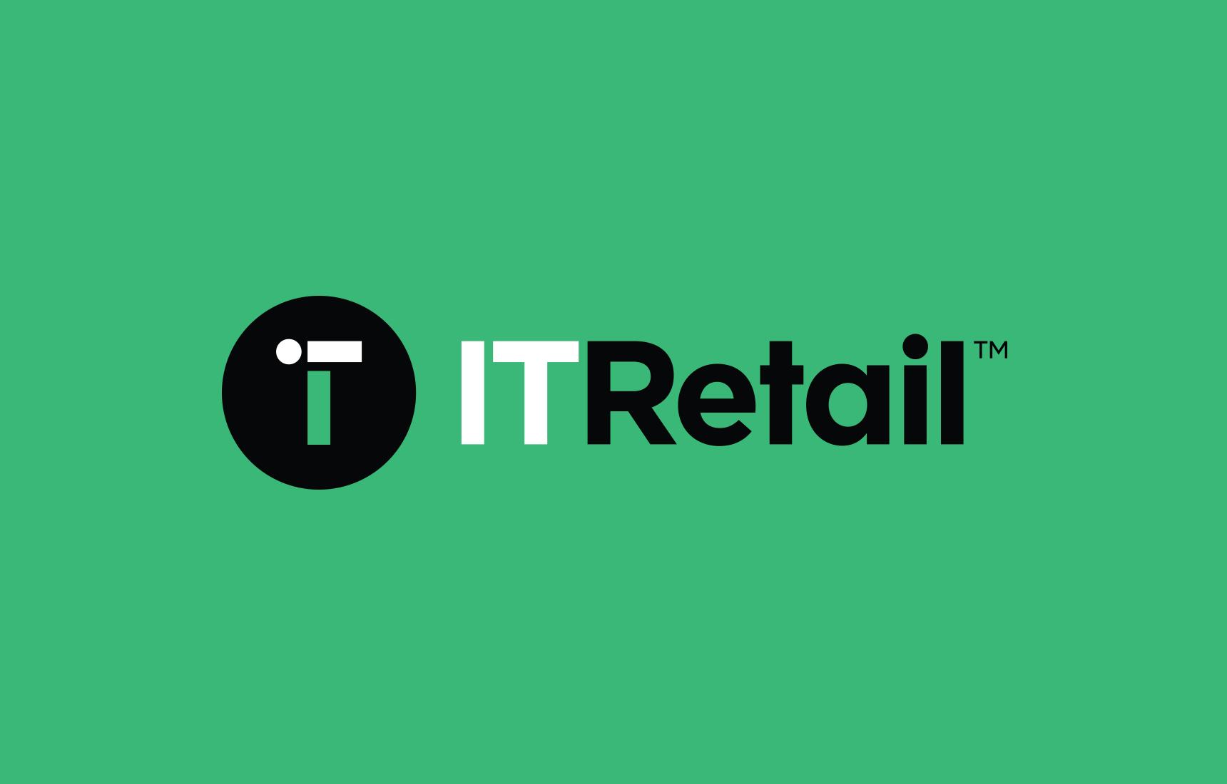 IT Retail logo in green background.