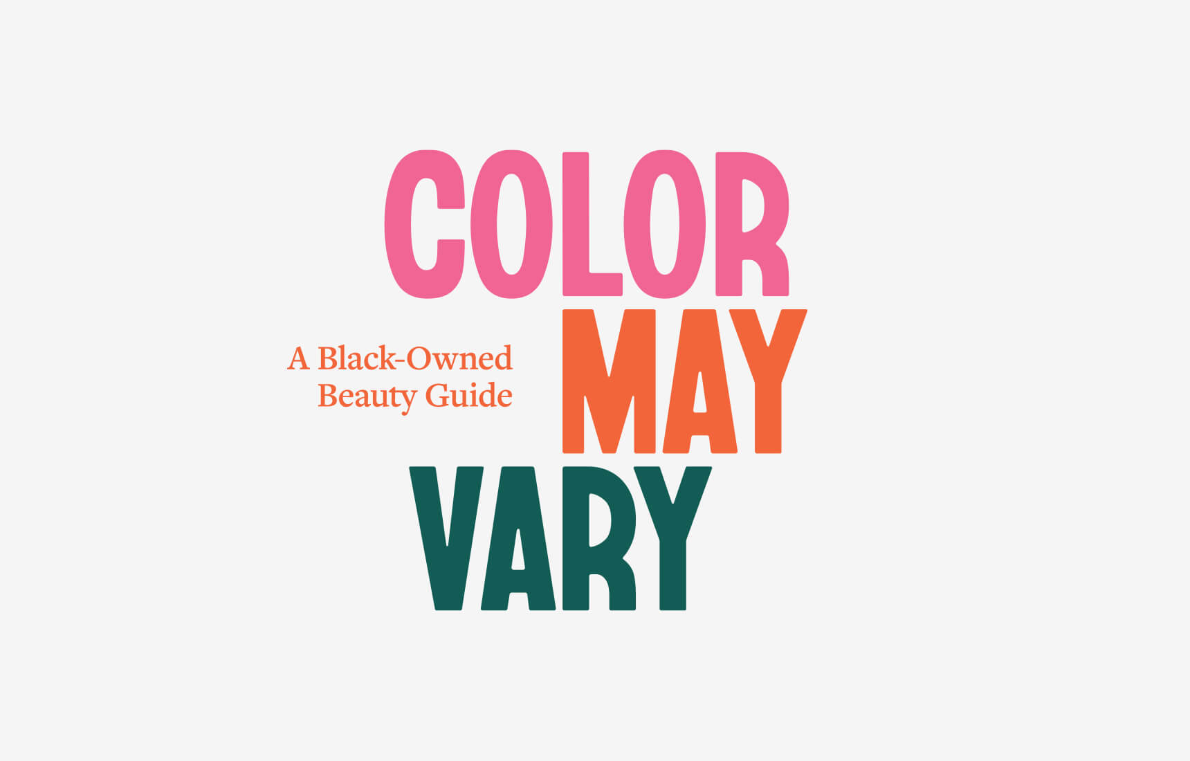 Color May Vary Logo